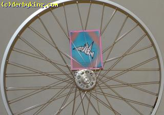 Track wheel with White Industries 36* hub