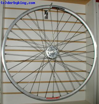 Track wheel with White Ind. High flange TI axle hub