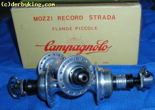NOS CAMPAGNOLO SMALL FLANGE HUBS, 32F, 36R,  WITH  BOX